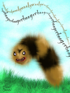 woolly worm illustration Brent Brown